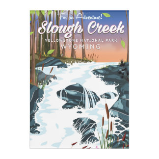 Slough Creek,Yellowstone national park Acrylic Print