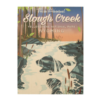 Slough Creek,Yellowstone national park Wood Wall Decor