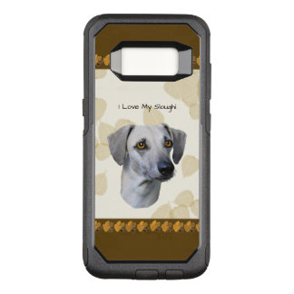 Sloughi with Tan Leaves OtterBox Commuter Samsung Galaxy S8 Case