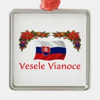 Slovak Christmas Metal Ornament