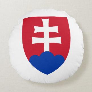 Slovak Coat of arms Round Cushion