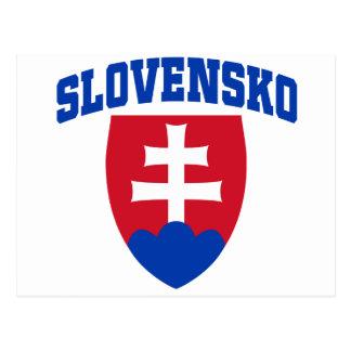 Slovak Emblem Postcard