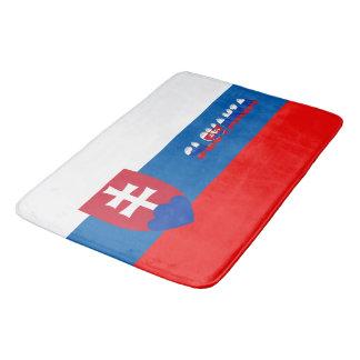 Slovak flag bath mat