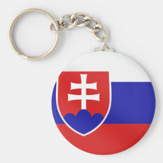 Slovak flag of Slovakia on Tees and for gifts Key Ring