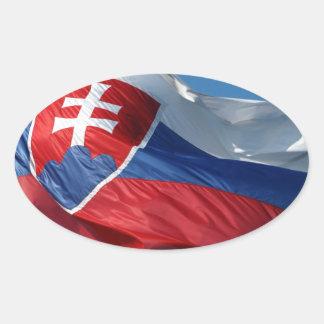 Slovak flag oval sticker