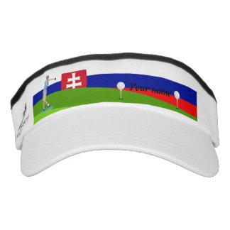 Slovak golfer visor