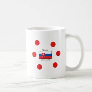 Slovak Language And Slovakia Flag Design Coffee Mug