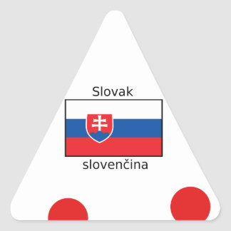 Slovak Language And Slovakia Flag Design Triangle Sticker