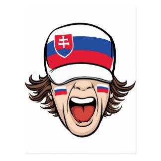 Slovak Sports Fan Postcard