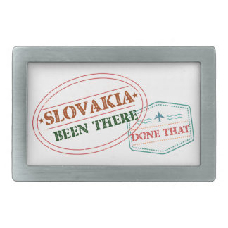 Slovakia Been There Done That Rectangular Belt Buckles