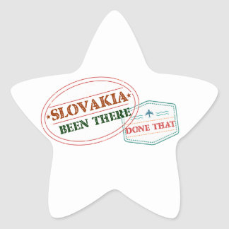 Slovakia Been There Done That Star Sticker