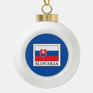 Slovakia Ceramic Ball Christmas Ornament
