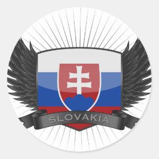 SLOVAKIA CLASSIC ROUND STICKER