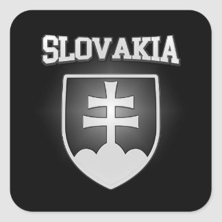 Slovakia Coat of Arms Square Sticker