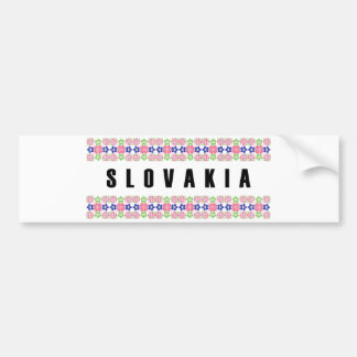 slovakia country symbol name text folk motif tradi bumper sticker