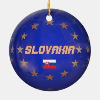 Slovakia E.U. Christmas Ornament