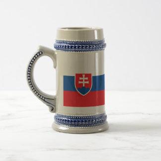 Slovakia Flag Beer Stein