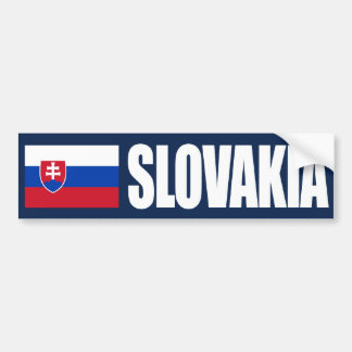 Slovakia Flag Bumper Sticker