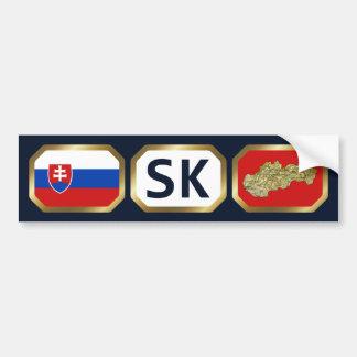 Slovakia Flag Map Code Bumper Sticker
