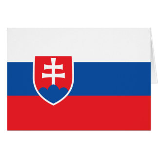 Slovakia Flag Note Card