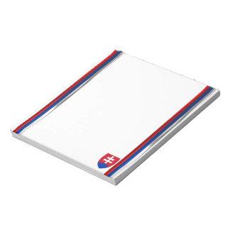 Slovakia flag notepad