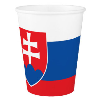 Slovakia Flag Paper Cup