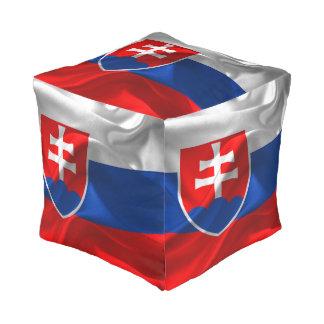 Slovakia flag pouf