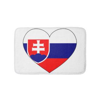 Slovakia Flag Simple Bath Mat