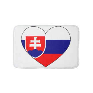 Slovakia Flag Simple Bath Mats