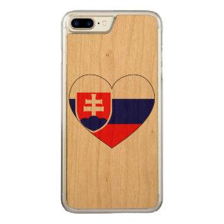 Slovakia Flag Simple Carved iPhone 8 Plus/7 Plus Case