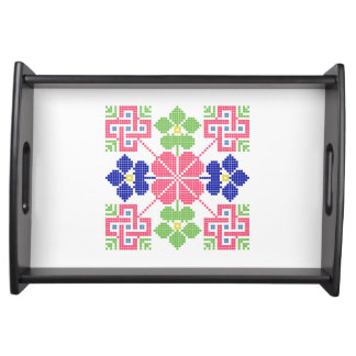 slovakia folk motif symbol traditional ethnic geom service tray