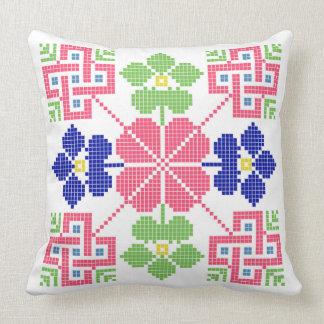 slovakia folk motif symbol traditional ethnic geom throw pillow