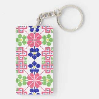 slovakia folk pattern motif traditional ethnic sym key ring