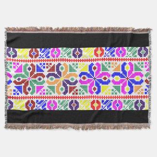 slovakia folk pattern motif traditional ethnic sym throw blanket