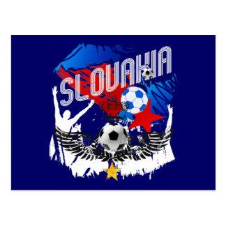Slovakia Grunge Slovak soccer football party gear Postcard