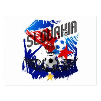 Slovakia Grunge soccer celebration gifts Postcard