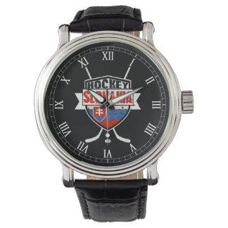 Slovakia Ice Hockey Logo Wrist Watch