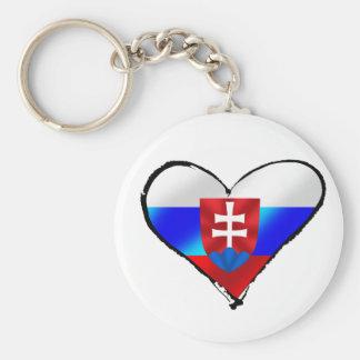 Slovakia love I heart Slovakia gifts for Slovaks Key Ring