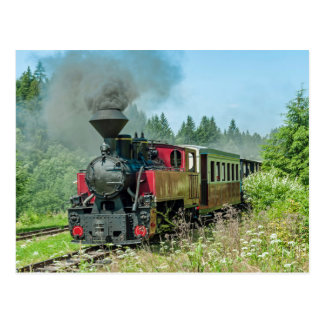 Slovakia Narrow Gauge Railroad Cierny - Balog Postcard
