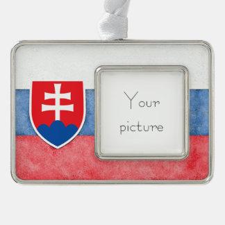 Slovakia Silver Plated Framed Ornament