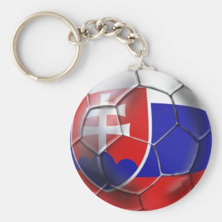 Slovakia soccer ball flag of Slovenska gifts Basic Round Button Key Ring