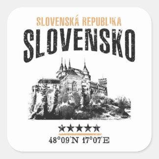 Slovakia Square Sticker