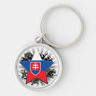 Slovakia Star Key Ring