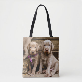 Slovakian Rough Haired Pointer Puppies Tote Bag