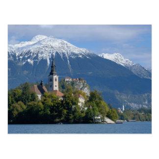 Slovenia, Bled, Lake Bled, Bled Island, Bled Postcards