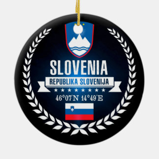 Slovenia Ceramic Ornament