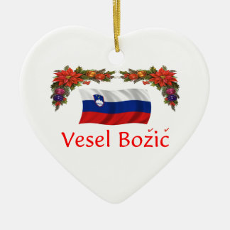 Slovenia Christmas Ceramic Ornament