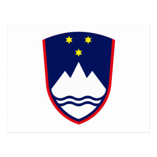 Slovenia Coat of Arms Postcard