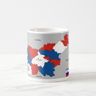 slovenia country political map flag coffee mug