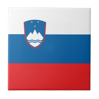 Slovenia Flag Ceramic Tile
